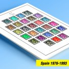 COLOR PRINTED SPAIN 1976-1993 STAMP ALBUM PAGES (100 illustrated pages)