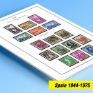 COLOR PRINTED SPAIN 1944-1975 STAMP ALBUM PAGES (96 illustrated pages)