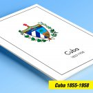 COLOR PRINTED CUBA 1855-1958 STAMP ALBUM PAGES (83 illustrated pages)