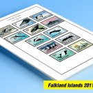COLOR PRINTED FALKLANDS 2011-2020 STAMP ALBUM PAGES (34 illustrated pages)