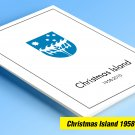 COLOR PRINTED CHRISTMAS ISLAND 1958-2010 STAMP ALBUM PAGES (94 illustrated pages)