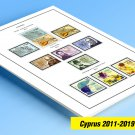 COLOR PRINTED CYPRUS [GREEK] 2011-2019 STAMP ALBUM PAGES (37 illustrated pages)