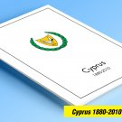 COLOR PRINTED CYPRUS [GREEK] 1880-2010 STAMP ALBUM PAGES (136 illustrated pages)