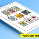 COLOR PRINTED AUSTRIA 2011-2019 STAMP ALBUM PAGES (88 illustrated pages)