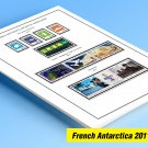 COLOR PRINTED TAAF-FSAT: FRENCH ANTARCTICA 2011-2019 STAMP ALBUM PAGES (57 illustrated pages)