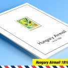 COLOR PRINTED HUNGARY AIRMAIL 1918-1988 STAMP ALBUM PAGES (88 illustrated pages)