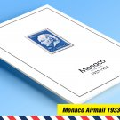 COLOR PRINTED MONACO AIRMAIL 1933-1984 STAMP ALBUM PAGES  (14 illustrated pages)