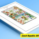 COLOR PRINTED CZECH REPUBLIC 2011-2019 STAMP ALBUM PAGES (63 illustrated pages)
