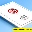 COLOR PRINTED FRANCE RAILWAYS POST 1892-1960 STAMP ALBUM PAGES (33 illustrated pages)