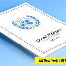 COLOR PRINTED UNITED NATIONS - NEW YORK OFFICES 1951-2010 STAMP ALBUM PAGES (155 illustrated pages)