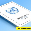 COLOR PRINTED UNITED NATIONS - GENEVA OFFICES 1969-2010 STAMP ALBUM PAGES (112 illustrated pages)