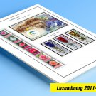 COLOR PRINTED LUXEMBOURG 2011-2019 STAMP ALBUM PAGES (44 illustrated pages)