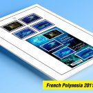 COLOR PRINTED FRENCH POLYNESIA 2011-2019 STAMP ALBUM PAGES (41 illustrated pages)