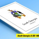 COLOR PRINTED SOUTH GEORGIA & S.S.I. 1963-2010 + 2011-2020 STAMP ALBUM PAGES (87 illustrated pages)