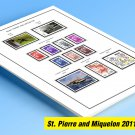 COLOR PRINTED ST. PIERRE AND MIQUELON 2011-2019 STAMP ALBUM PAGES (35 illustrated pages)