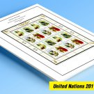 COLOR PRINTED UNITED NATIONS 2011-2019 STAMP ALBUM PAGES (178 illustrated pages)
