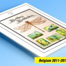 COLOR PRINTED BELGIUM 2011-2019 STAMP ALBUM PAGES (131 illustrated pages)
