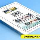 COLOR PRINTED GREENLAND 2011-2019 STAMP ALBUM PAGES (54 illustrated pages)