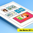 COLOR PRINTED SAN MARINO 2011-2019 STAMP ALBUM PAGES (52 illustrated pages)