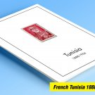 COLOR PRINTED FRENCH TUNISIA 1888-1956 STAMP ALBUM PAGES (45 illustrated pages)