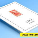 COLOR PRINTED CILICIA 1919-1920 STAMP ALBUM PAGES  (16 illustrated pages)
