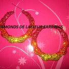 Crystal Bamboo Hoops Large Size like Basketball Wives