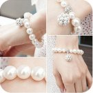 Pearl ball bracelet with pearl ball pendant