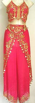 Harem Pant Magenta Belly Dancer Costume Dress B