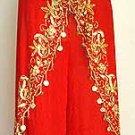 Harem Pant Red Belly Dance Costume Dress B