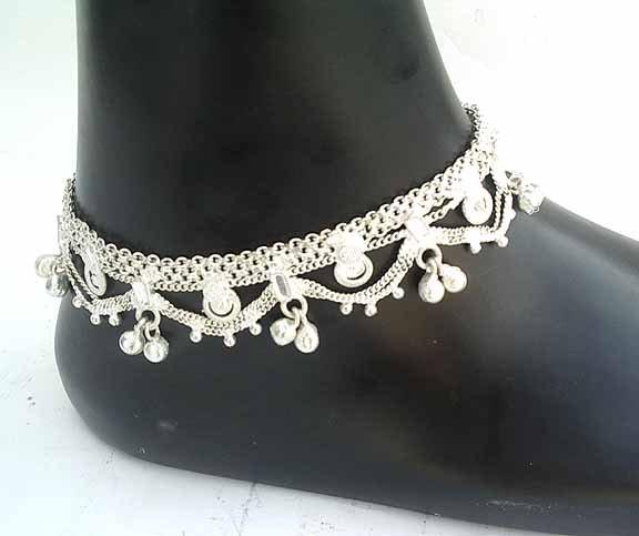 Silver Ankle Bracelets B