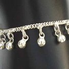 Silver Anklet with Bells L