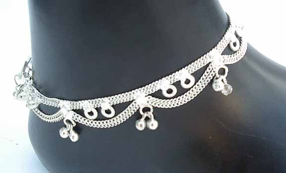 Silver Anklet with Bells P
