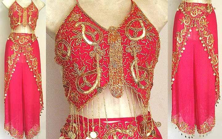 Harem Pant Magenta Belly Dancer Costume Dress B