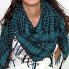 Plaid Check Scarf Black and Green Arafat