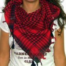 Plaid Check Scarf Black and Red Arafat
