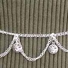 Belly Dancing Silver Belly Chain Coin Belt Waist Chain J