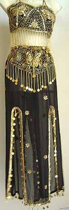 Belly Dance Costume Dress C Black