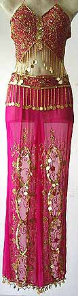 Belly Dancing Costume Dress FG Magenta