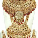 Indian Saree Bridal Jewelry Wedding Set 2 Necklace Multicolor Stones WJ-17