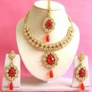 Indian Bridal Saree Jewelry Set Multicolor Stones NP-204