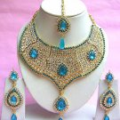 Indian Bridal Saree Jewelry Set Multicolor Stones NP-206
