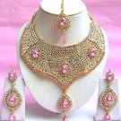 Indian Bridal Saree Jewelry Set Multicolor Stones NP-208
