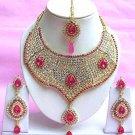Indian Bridal Saree Jewelry Set Multicolor Stones NP-212