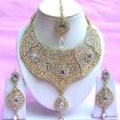 Indian Bridal Saree Jewelry Set Multicolor Stones NP-214