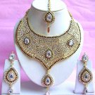 Indian Bridal Saree Jewelry Set Multicolor Stones NP-218