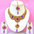 Indian Bridal Saree Jewelry Set Multicolor Stones NP-219