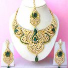 Indian Bridal Saree Jewelry Set Multicolor Stones NP-227