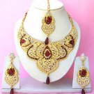 Indian Bridal Saree Jewelry Set Multicolor Stones NP-228
