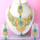 Indian Bridal Saree Jewelry Set Multicolor Stones NP-229