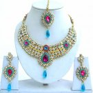 Indian Bridal Saree Jewelry Set Multicolor Stones NP-232